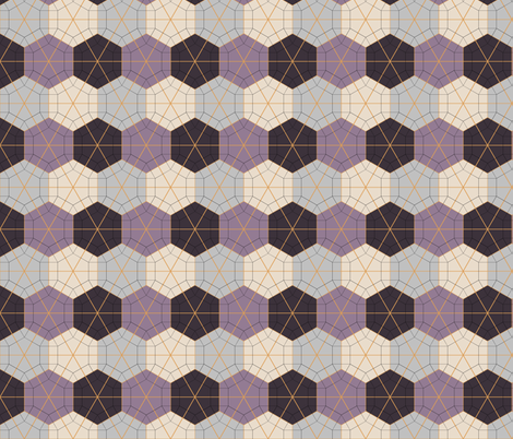 Tessellated Hexagonal Wheel - Shades of Grey fabric by zephyrus_books on Spoonflower - custom fabric