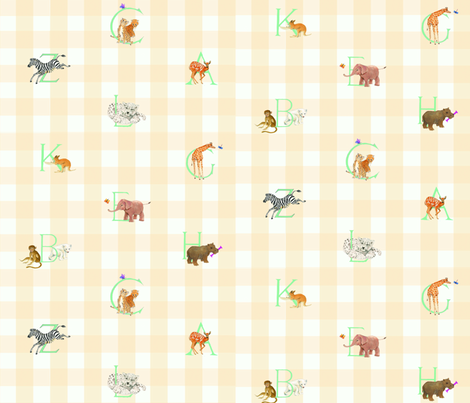 Baby Animal Alphabet fabric by fabricwing on Spoonflower - custom fabric