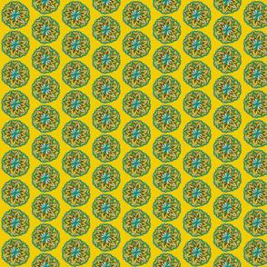 mustard mandala flower
