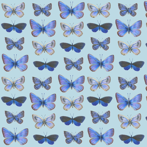 blues on blue fabric by weavingmajor on Spoonflower - custom fabric