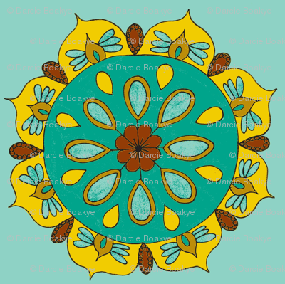 teal mandala light