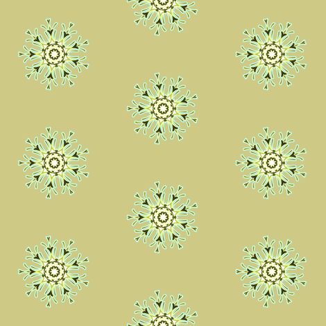 Medallion in moss fabric by joanmclemore on Spoonflower - custom fabric