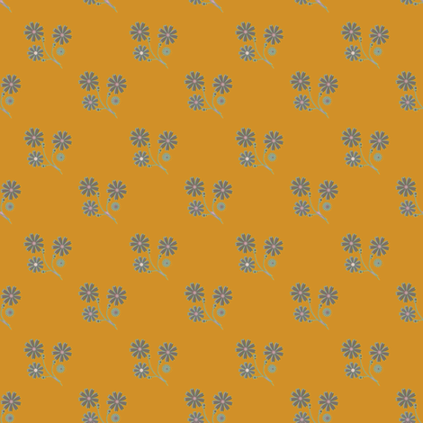 Daisy on gold fabric by joanmclemore on Spoonflower - custom fabric