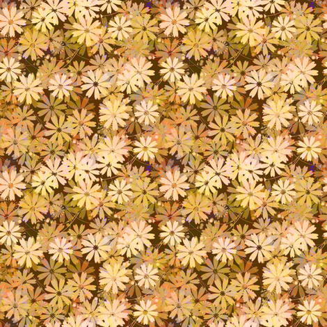 Daisy field of peach fabric by joanmclemore on Spoonflower - custom fabric