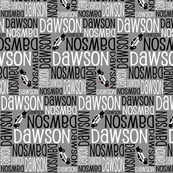 Personalised Name Fabric - Police Cars Grey Black White