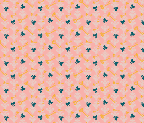 Wonderlandpink fabric by viewfromtheskye on Spoonflower - custom fabric