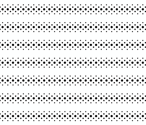 black 'n' white dot ribbon fabric by keweenawchris on Spoonflower - custom fabric