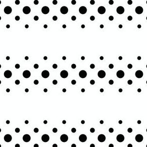 black 'n' white dot ribbon