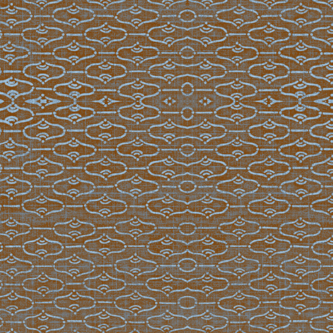 Aladdin - cherrywood brown with red hues and light blue design fabric by materialsgirl on Spoonflower - custom fabric