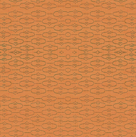 Aladdin - melon/khaki  fabric by materialsgirl on Spoonflower - custom fabric