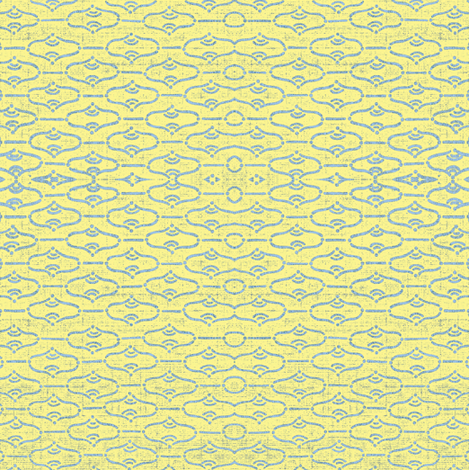 Aladdin - lemon and blue fabric by materialsgirl on Spoonflower - custom fabric