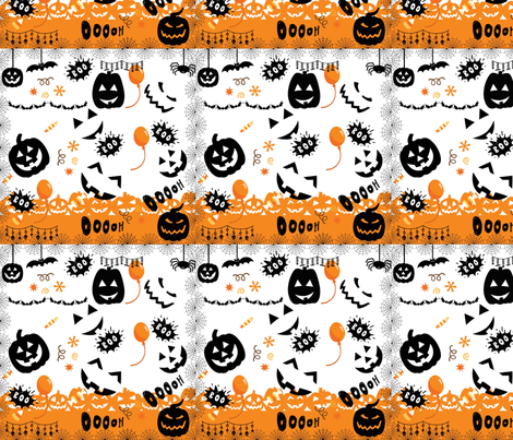 HALLOWEEN 1 fabric by manureva on Spoonflower - custom fabric