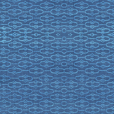 Aladdin - dark and light blue denim  fabric by materialsgirl on Spoonflower - custom fabric