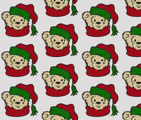 Christmas Bear fabric by meaganrogers on Spoonflower - custom fabric