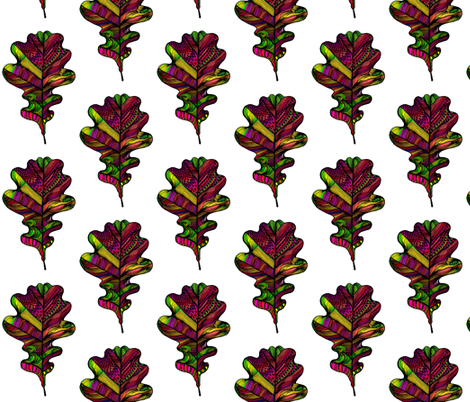 oakleaves on white fabric by creative_cat on Spoonflower - custom fabric