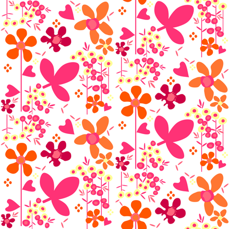 Fall'n For Pink! - Morning -  © PinkSodaPop 4ComputerHeaven.com  fabric by pinksodapop on Spoonflower - custom fabric