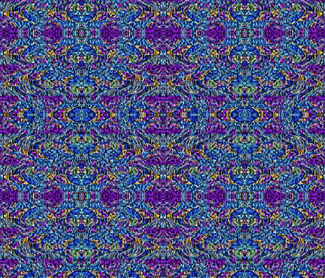 Purple Haze on Blue River fabric by anniedeb on Spoonflower - custom fabric