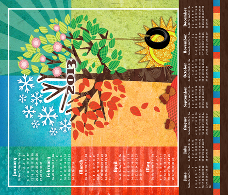 Seasons of 2013 fabric by dianef on Spoonflower - custom fabric