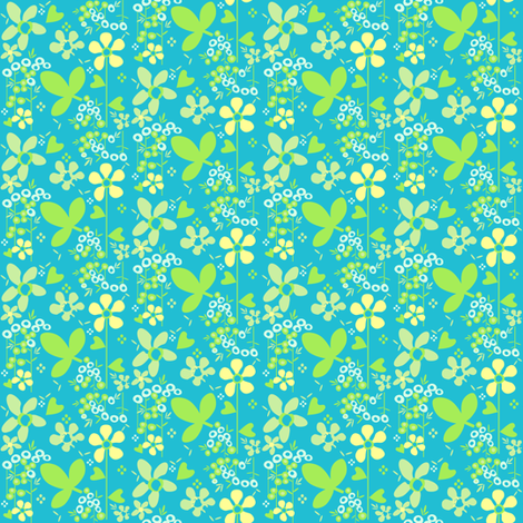 Fall'n For Flowers - A Simple Wish -  © PinkSodaPop 4ComputerHeaven.com fabric by pinksodapop on Spoonflower - custom fabric
