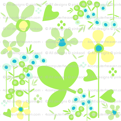 Fall'n For Flowers - White - A Simple Wish -  © PinkSodaPop 4ComputerHeaven.com