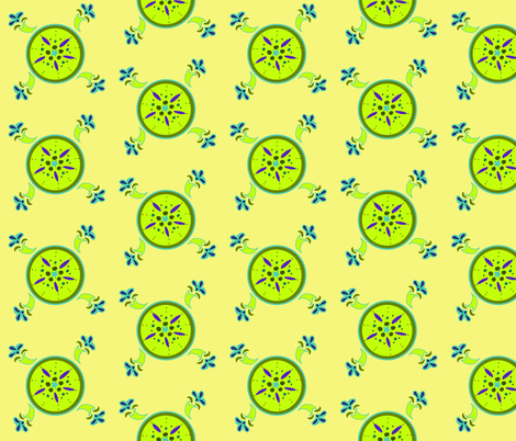 Kiwi fabric by leahvanlutz on Spoonflower - custom fabric
