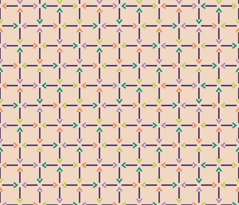 Arrow Grid fabric by modgeek on Spoonflower - custom fabric