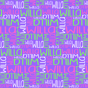 Personalised Name Design - Purple Pink Green