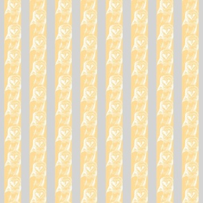 Wallpaper snow Owl Sketch Small in Grey and Yellow
