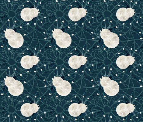 spiderweb midnight fabric by kociara on Spoonflower - custom fabric
