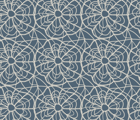pearly spiderweb fabric by kociara on Spoonflower - custom fabric