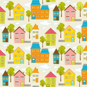 Hipster houses (linen)