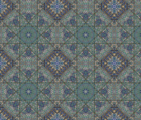 kaleidoscopic tile fabric by kociara on Spoonflower - custom fabric