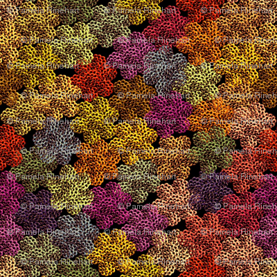 crochet autumn foliage