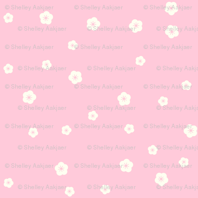 Personalised Name Fabric Coordinate - Blossoms on Pink