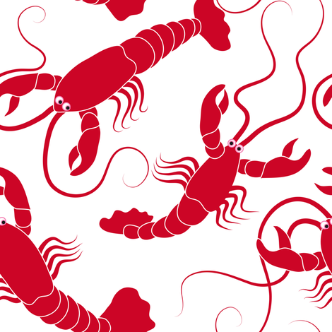 Lobsters  fabric by vo_aka_virginiao on Spoonflower - custom fabric