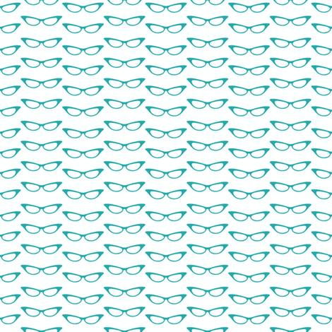 small_glasses_teal fabric by vo_aka_virginiao on Spoonflower - custom fabric