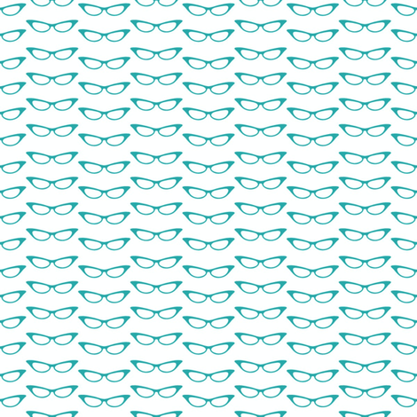 small_glasses_teal fabric by vo_aka_virginiao on Spoonflower - custom fabric