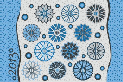Polka Dot Bouquet 2013 Tea Towel Calendar fabric by robyriker on Spoonflower - custom fabric