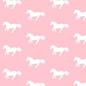 White Pony on Pink
