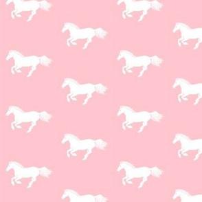 White Pony on Pink