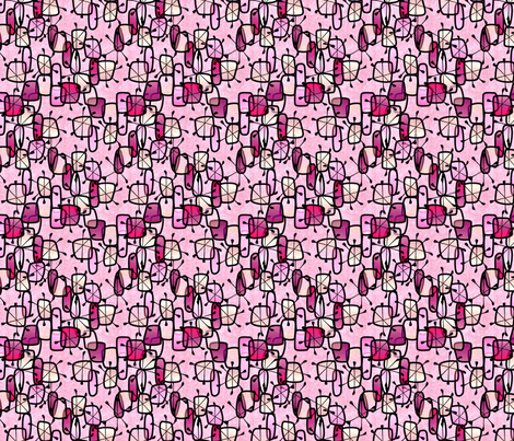 pink snow and ice  fabric by glimmericks on Spoonflower - custom fabric
