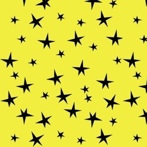 black star in yellow background