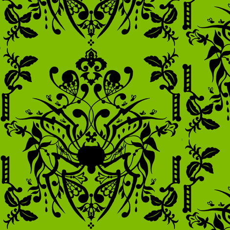 Spider Damask fabric by jadegordon on Spoonflower - custom fabric