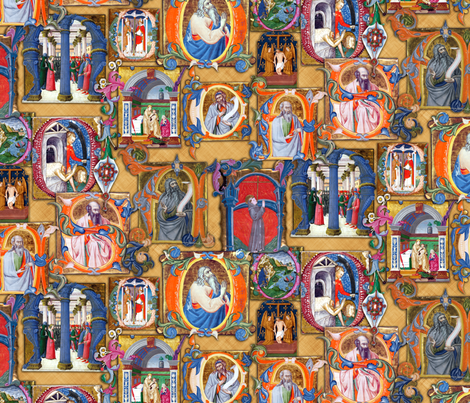 Medieval Illuminations fabric by bonnie_phantasm on Spoonflower - custom fabric