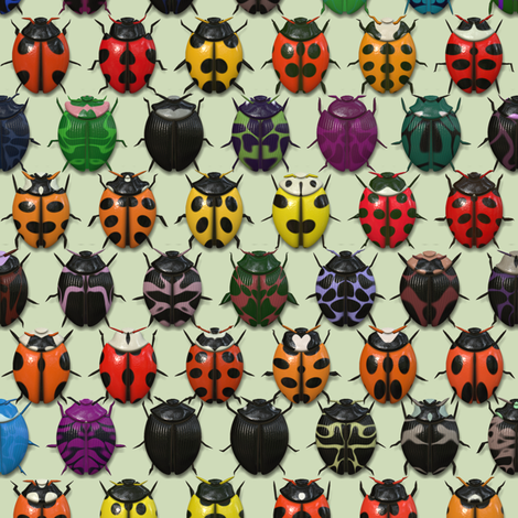 BeetleMania fabric by bonnie_phantasm on Spoonflower - custom fabric