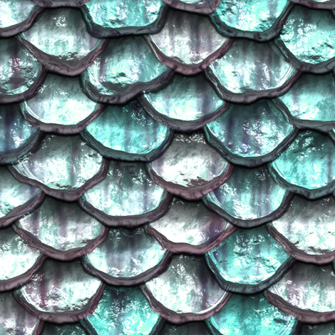 Mermaid Scales - Aqua fabric by bonnie_phantasm on Spoonflower - custom fabric