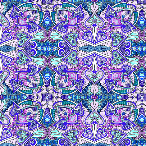Stupid Cupid is Feeling Kind of Blue fabric by edsel2084 on Spoonflower - custom fabric