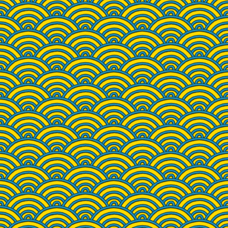 Ocean Waves - Seikaiha fabric by bonnie_phantasm on Spoonflower - custom fabric
