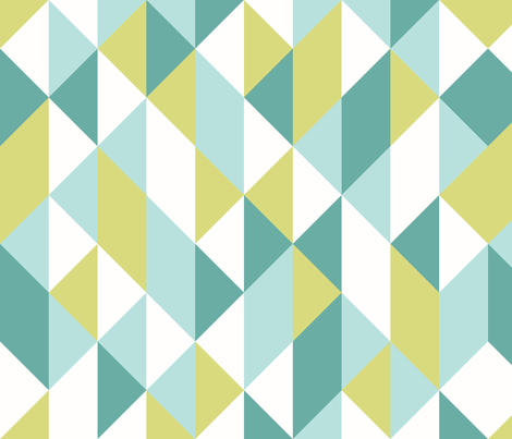 [triangle chips: blue-green] fabric by cedesignstudios on Spoonflower - custom fabric