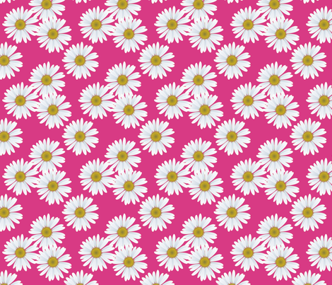 daisy_magenta_pattern fabric by priti on Spoonflower - custom fabric